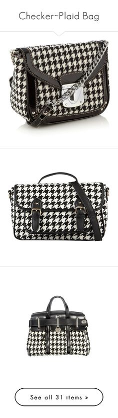 """""""Checker~Plaid Bag"""" by sunnyia ❤ liked on Polyvore featuring bags, handbags, shoulder bags, women's clothing, houndstooth handbags, nine west shoulder bag, braided purse, woven handbags, braided handbag and purses"""