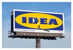 Cleaver use of 'Ikea Hacking' for a simple but effective typographical trick - 'Idea Ikea'