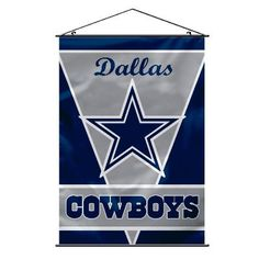 """The Dallas Cowboys Man Cave Wall Banner measures 40"""" x 28"""" and hangs easily on your Man Cave or Game Room wall."""