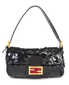 A Fendi Black Sequin Baguette Shoulder Bag 6c0b133d292e4