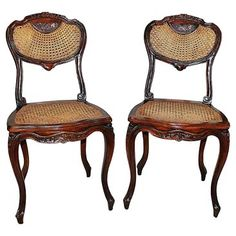 Check out this item at One Kings Lane! French Caned Chairs, S/2
