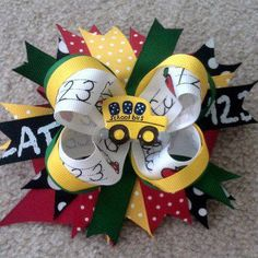Back to School Bow by USAFwife1981 on Etsy, $10.00