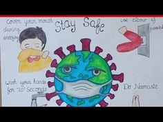 CoronaVirus precautions poster to take/ Spreading awareness/drawing of corona virus Earth Drawings, Art Drawings For Kids, Drawing For Kids, Kids Poster, Poster On, Save Earth Drawing, Hand Washing Poster, Oil Pastel Drawings, Poster Drawing