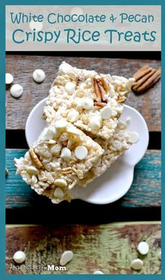 White Chocolate & Pecan Crispy Rice Treats