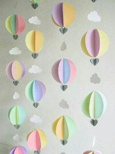 Hot air balloon paper craft