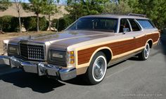 1977 Ford LTD Country Squire in Chamois Metallic.  Dad's take 2 with the wagon. Fun times growing up with this car.
