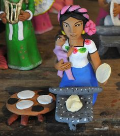 Josefina Aguilar and family made this ceramic figure of a hard-working and loving mother. Mexican Mothers Day, Happy Mothers Day, Ceramic Figures, Ceramic Art, Mexican Ceramics, Art N Craft, Mexican Folk Art, Motifs, Puppets