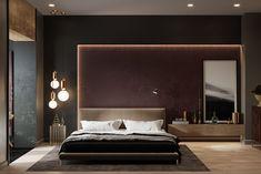 modern-contemporary-bedroom - D. Master Bedroom Interior, Luxury Bedroom Design, Modern Master Bedroom, Master Bedroom Design, Minimalist Bedroom, Home Decor Bedroom, Bedroom Wall, Home Interior Design, Bed Room