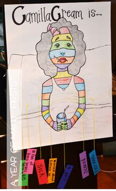 After reading bad case of stripes, give each student a colored strip of paper and write character trait then tape to poster. Reading Strategies, Reading Activities, Reading Skills, Teaching Reading, Guided Reading, Teaching Ideas, Learning, Library Lessons, Art Lessons
