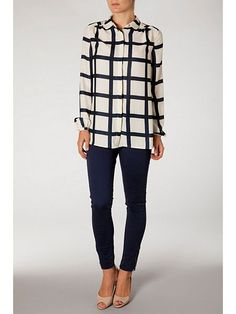 Abrielle printed check blouse  #HouseOfFraser #TommyHilfiger #ShoppingPicks