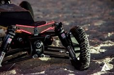 BajaBoard Extreme Electric Skateboard - The BajaBoard electric skateboard is fitted with independent suspension and steering, together with high-tech shock absorbers and springs all connected to a four-wheel drive chassis and powered by four brushless motors providing 10kW of power.   Geeky Gadgets