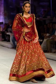 Love the work on this bridal lehengha