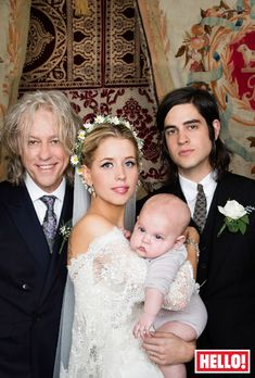 Peaches Geldof and Thomas Cohen tied the knot in vintage themed big day! Doesn't Sir Bob scrub up well?!