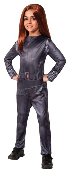 Captain America Winter Soldier - Black Widow Kids Costume from BirthdayExpress.com
