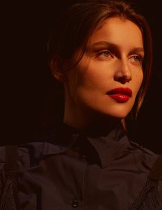 French model and actress Laetitia Casta graces the pages of ELLE Russia's February 2018 issue. Lensed by Arseny Jabiev, the brunette stunner poses in glamo