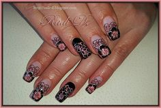 It`s all about nails: Black and peachy flowers http://radi-d.blogspot.com/2014/11/black-and-peachy-flowers.html