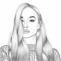 outlines tumblr girl