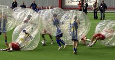 Bubble soccer is a thing! Lets put soccer players in plastic bubbles and let them recklessly smash the shit out of everything on the pitch. Bubble Soccer, Soccer Quotes, The Funny, I Laughed, Laughter, Haha, At Least, Bubbles, Hilarious