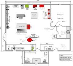 10' x 15' woodworking workshop layout