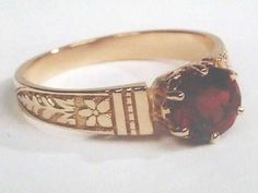 Victorian Style 14k Gold 6mm (.80 Carats) Engagement Ring Mounting