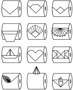 Links to toilet paper origami tutorials - for when you feel like showing off ;) or channeling your inner Martha!!