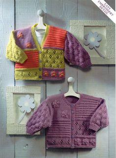 baby cardigans knitting pattern baby girls childrens por Minihobo