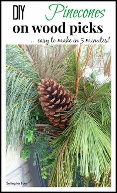 DIY pinecones on woo