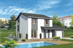 Découvrez les plans de cette une maison bioclimatique à bon prix sur www.construiresamaison.com >>>