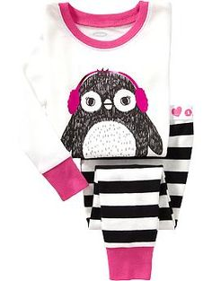 Penguin-Graphic PJ Sets for Baby Product Image Old Navy Toddler Girl, Toddler Girl Outfits, Toddler Fashion, Boy Outfits, Kids Fashion, Cute Outfits, Baby Girl Pajamas, Cute Pajamas, Girls Pajamas