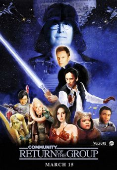 Community as Return of the Jedi - lolololol. I'm so excited for this show to come back.