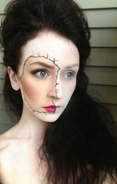 Porcelain skin  all i can think is halloween..