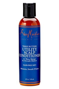 SheaMoisture for Men Three Butters Utility Scalp Conditioner A Better Way to Beautiful Since 1912.