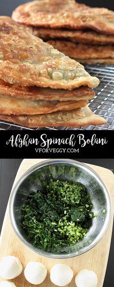 Afghan Spinach Bolani