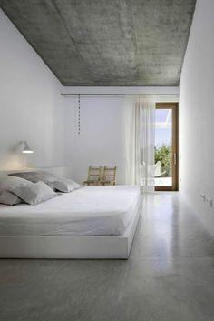 suelo y techo de cemento pulido