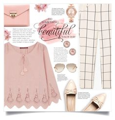 """In the spring: Pink Beauty"" by keziatmrskasrf ❤ liked on Polyvore featuring MANGO, Comptoir Des Cotonniers, WALL, Michael Kors, Dana Rebecca Designs and Chloé"