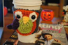 Owl Cup Cozy ~ free pattern