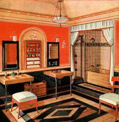 Art Deco Bathroom Illustration