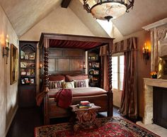 Old World Bedroom Tudor Style Homes With Canopy Bed Tudor Style Homes Interior Tudor Home Interior Tudor Home Interior Designs Tudor Style Home Designs