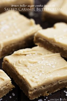 Brown Butter Sugar Cookie Bars with Salted Caramel Buttercream - The Recipe Critic
