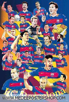 Barcelona Season 2015-2016 - Cartoon