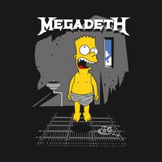Shop megadeth - simpsons fanart t-shirts designed by as well as other fanart merchandise at TeePublic. Simpsons Characters, Simpsons Art, Bart Simpson T Shirt, Homer Simpson, Metallica, Keith Haring Art, Metal T Shirts, Inspirational Wallpapers, Retro Logos