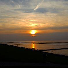 #Sonnenuntergang #Wattenmeer #Norddeich