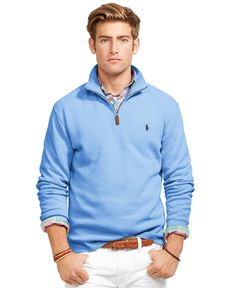 Polo Ralph Lauren French-Rib Mockneck Pullover - Sweaters - Men - Macy's