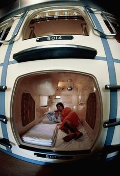 Capsule Inn  by Luke Kerr-Dineen  Definitely not one for the claustrophobic. Since 1979 the Capsule Inn in Osaka, which can hold a little more than 400 people, has been housing people in sleeping capsules. The smallest ones cost about $ 50 a night and are roughly 7 feet long and 4 feet in width and height.