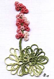 """Floral free-form Tatting  from """"Book: Ring of Tatters - Helma Siepmann's Work """"  (no patttern on site)"""