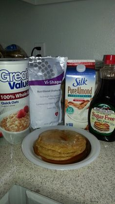 Visalus Oatmeal Pancakes the best pancakes ever!!!  High protein! http://cdequaine.myvi.net to order Vi shake mix