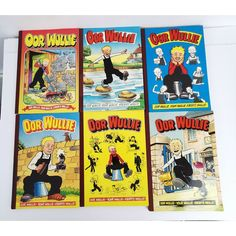 Oor Wullie Soft Cover Scottish Comic Books Lot 6 1984 1986 1988 1994 1996 1998 Best Value Captain Caveman, Graphic Novel, Serenity Prayer, Rainbow Brite, Needlepoint Kits, Super Happy, Comic Covers, New Toys, Vintage Sewing
