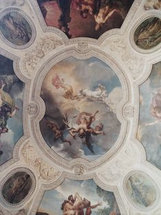 Louvre, Paris (beautiful hand painted ceilings)