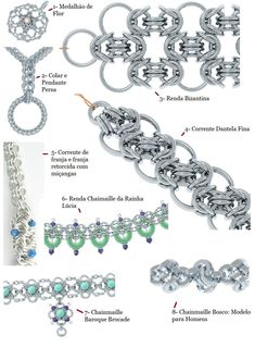 Various chain maille patterns