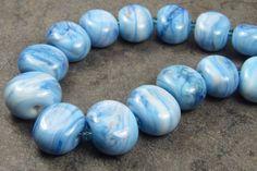 Into the Fire Lampwork Art Beads ~Tie-Dye Sky~ Artist handmade glass beads SRA